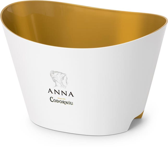 Anna de Codorníu white and gold bucket (5-6 bot.)