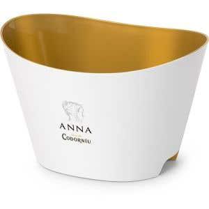 Cubitera blanca y dorada Anna de Codorníu (5-6 bot.)