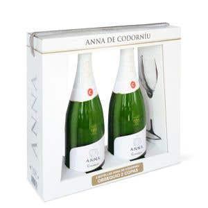 2 Anna Brut + 2 glasses Case
