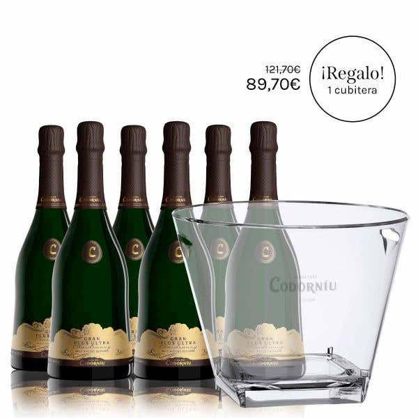 6 Gran Plus Ultra Chardonnay Brut Nature + Free Bucket