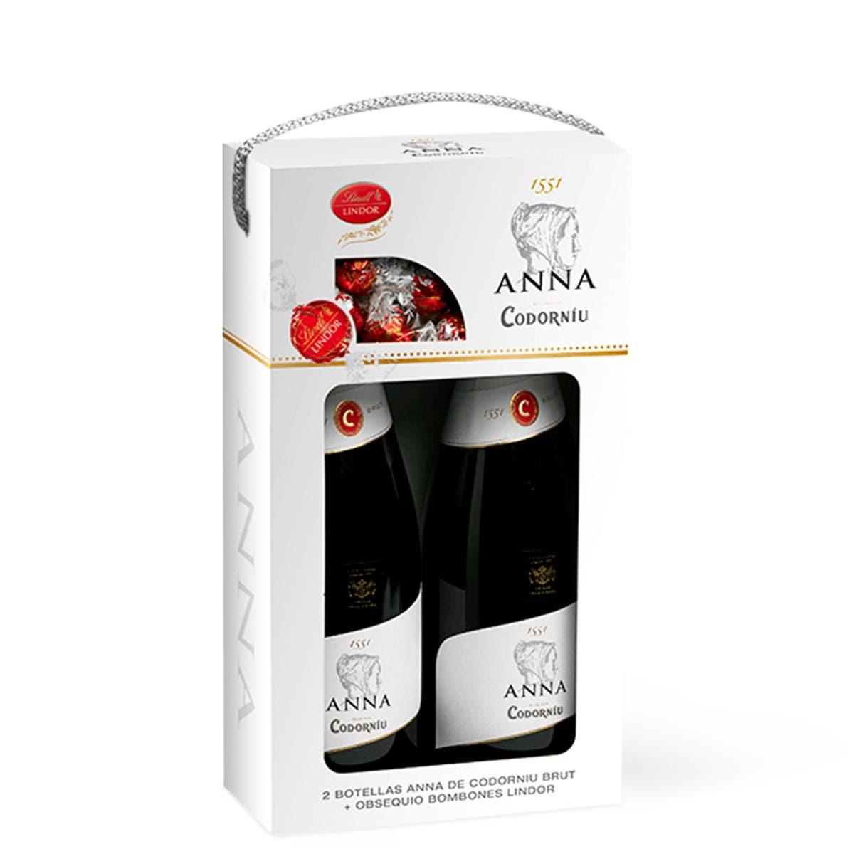 Estuche 2 Anna Brut + 1 caja de bombones Lindor