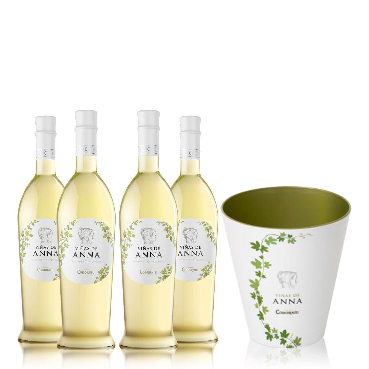 4 Viñas de Anna Chardonnay + FREE BUCKET